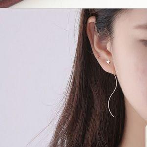 Threader earrings dangling